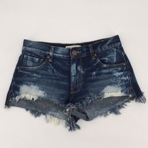 Pants - Bullhead Bleached cut off slouchy shorts Sz 3